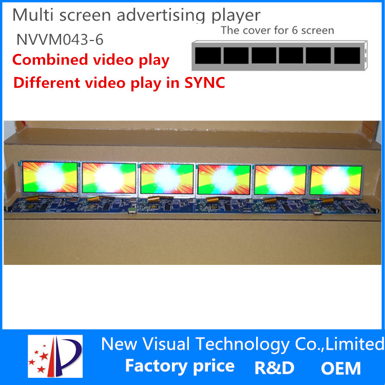 multi screen advertising display-4.3inch*6screen